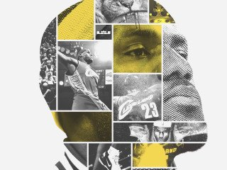 LeBron James - Face of Cleveland - Artwork by Tyson Beck on Behance