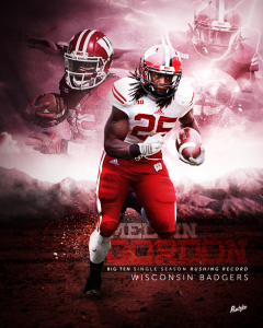 Melvin Gordon by Mitchell Pantzke - SportsDesign.co - The Sports Graphic Design site