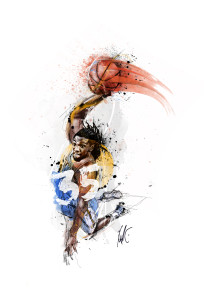 Kenneth Faried by Chris Slabber - SportsDesign.co - The Sports Graphic Design site