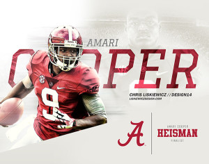 Amari Cooper by Chris Liskiewicz
