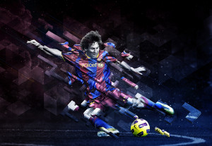 Messi Tetris by Tak Wong
