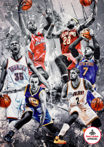 Foot Locker NBA All Star 2015 Poster Artwork by Tyson Beck