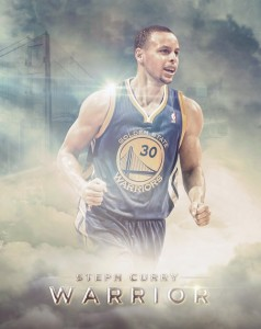 Steph Curry Warrior by Ishaan Mishra