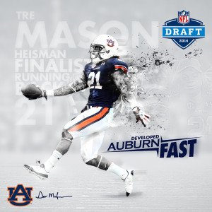 Developed Auburn Fast: NFL Draft Prospect Campaign by Tiffany Middleton